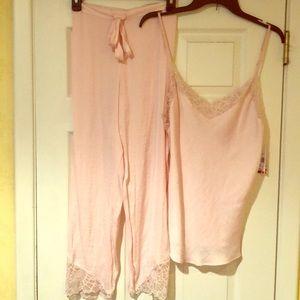Josie Natori Collette Blush Pink Pajamas. Size M
